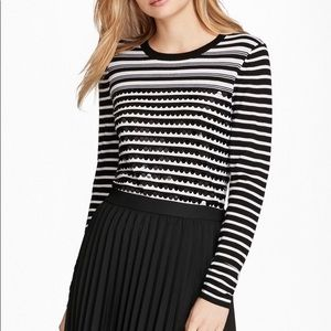 Brooks Brothers striped sequin sweater